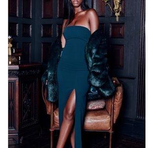 NWT house of cb holly evergreen maxi dress XS